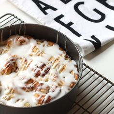It's getting crispier outside and Fall is right around the corner, if not here already. There is nothing like a good cup of hot chocolate and freshly baked cinnamon rolls while watching the wind pick up leaves outside this time of year. #baking #bakingrecipes #cinnamonrolls