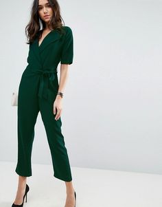 da0aeb485eb 11 Chic Wedding-Appropriate Jumpsuits for Fall - Wrap Jumpsuit with Self  Belt from InStyle. ASOS