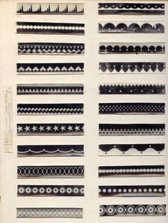 Oskar Fischinger realized that the optical soundtrack on film consists of abstract patterns. He systematically worked on the possibilities of producing sound by means of abstract drawings or ornaments on the film's optical soundtrack. Sound experiments. From the Collection of Center for Visual Music. 1931