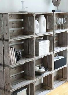Crate book shelves! Looove!!!