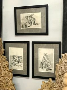 "Framed Etchings   16"" x 20""   $60 Each   Country Garden Antiques 147 Parkhouse  Dallas, TX 75207"