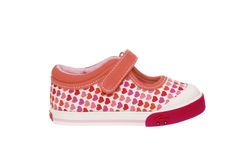 See Kai Run Sneakers Adalynn - Red $37.50 http://www.meandmyfeet.com/product/SKR-417 #Run #Sneakers #Red #Toddler #Shoes #Kids