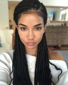 35 Pretty Box Braids for Black Women 2019 35 Pretty Box Braids for Black Women Box Braids hairstyles are one of the most popular African American protective styling choices. Summer lifts the percentage significantly due to the ac…, Box Braids Try On Hairstyles, Braided Hairstyles For Black Women, Trending Hairstyles, Small Box Braids Hairstyles, Protective Hairstyles, Chic Hairstyles, Dreadlock Hairstyles, Protective Styles, Straight Hairstyles