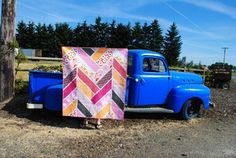 Broken Herringbone Quilt Pattern - I like the large scale of this quilt