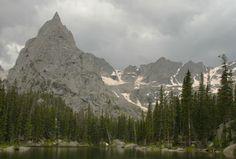 Lone Eagle Peak above Mirror Lake - Indian Peaks Wilderness, Roosevelt National Forest, Colorado