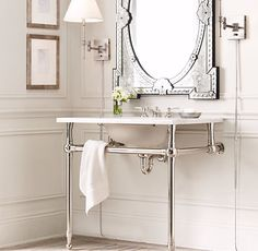I wonder if they have a smaller stand for my powder room?Gramercy Single Metal Washstand