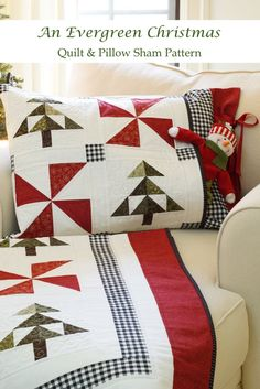 Christmas Tree Quilt Pattern, Christmas Quilting Projects, Christmas Patchwork, Christmas Tree Quilt Block Patterns, Christmas Sewing Patterns, Easy Quilt Patterns Free, Free Pattern, Quilting Patterns, Pillow Patterns