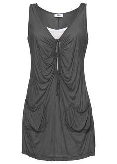 Blusa longa 2 em 1 cinza encomendar agora na loja on-line bonprix.de  R$ 79,90 a partir de A moderna blusa longa também pode ser usada como vestido. ...