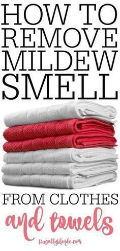 Do your clothes smell of mold and mildew? Check out this simple tip on how to re… Do your clothes smell of mold and mildew? Check out this simple tip on how to remove mildew smell from clothes and towels. Hint: It only takes 1 ingredient! Pin: 736 x 1533 Deep Cleaning Tips, House Cleaning Tips, Cleaning Solutions, Spring Cleaning, Cleaning Hacks, Cleaning Products, Cleaning Recipes, Cleaning Supplies, Laundry Solutions