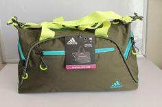 1f0d01b0d0b9 adidas women s fearless club bag gym bag green   yellow new 21.5