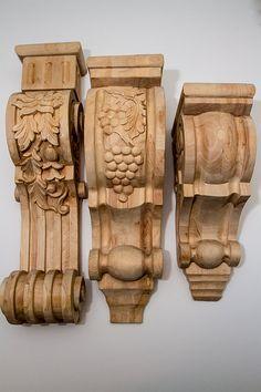 Solid Oak Shelf or Fireplace Mantel Corbels by DovetailArtistry, $80.00 - $120.00/pr.