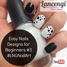 Easy Nail Art for Beginners #3 - Classic Edition Do you love easy nail art for short nails? Check out this simple poke-a-dot nail design! #sephora