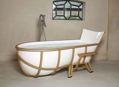 The Frame of a Chair Into a Bathtub | http://www.designrulz.com/spaces-for-living/bathroom-product-design/2011/11/the-frame-of-a-chair-into-a-bathtub/