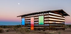 JOSHUA TREE'S COLORFULLY REFLECTIVE DESERT SHACK
