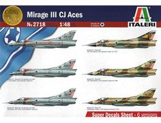 The Italeri Dassault Mirage III CJ Aces Model Kit in 1/48 scale from the plastic aircraft model kit range accurately recreates the real life French fighter aircraft. This box is dedicated to some of these pilots that achieved part of their victories with the Mirage III between 1967 and 1973. Most of these pilots belonged to the 101st Squadron, which at the time of the 1967 War was the elite unit of Israeli aviation.