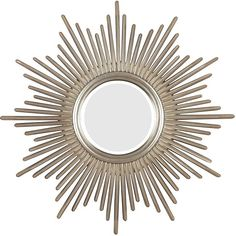 Bursting with regal style, this mirror is hand-finished in antique silver with warm highlights to adapt to any decor. This Artemis wall mirror is finished with beveled edges.