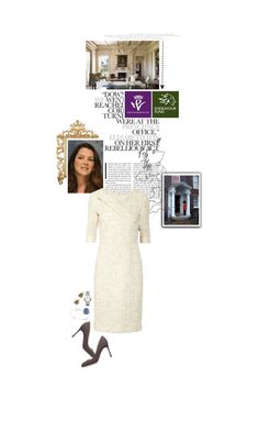"""Untitled #2660"" by duchessq ❤ liked on Polyvore featuring Oscar de la Renta, Sergio Rossi and Chopard"