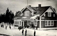 Petäjärvi railway station in the 1930s.  Petäjärvi was a prosperous village of the Sakkola municipality of the Viipuri province of #Finland. It was ceded to #Russia at the end of #WWII and in 1948, was renamed Petrovskoye,