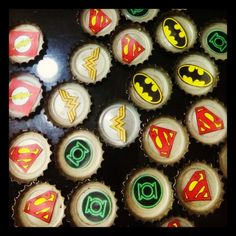 The justice league Justice League, Diy Crafts, Cupcakes, Desserts, Food, Creative, Painting, Tailgate Desserts, Cupcake Cakes