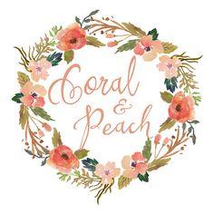 Wreath Logo Design Watercolor Wreath Floral by QuietForestDesign