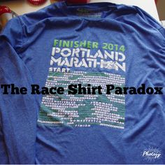 Ever wonder if you should run a race in the free race shirt?  Here is Mike's thoughts on the race shirt paradox... #run #running #raceshirt #race #shirt