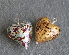 Firefrost Murano glass Pestaccio heart pendants are available in two colours, Crystal Multi and Gold/ Topaz. Jewellery is designed and handmade in the UK. Black Gift Boxes, Murano Glass, Glass Jewelry, Glass Pendants, Sterling Silver Chains, Artisan, Crystals, Heart, Earrings