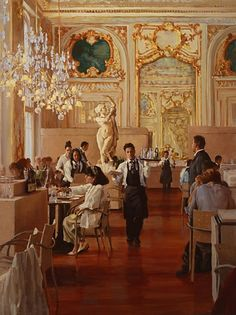 Luncheon at the Musee d'Orsay   by Pauline Roche