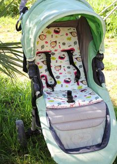 EXCLUSIVE Pushchair Padded LINER 2 PADS SET Double-sided Fleece Pram Seat