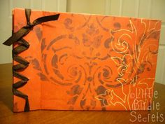 """How to make your own book Japanese Style. This craft project is called """"the grateful book"""" and every Christmas the family, before they leave your home, has to write what they were thankful for that year. It could be anything from holding a baby to Cheetos."""
