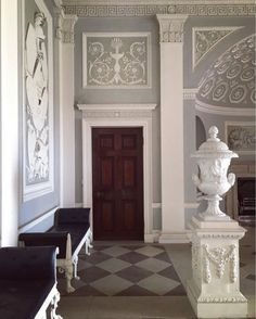 The Three Graces: Elegance, Beauty, Flair. Classical Architecture, Architecture Design, Bed Design, House Design, Checkered Floors, Mediterranean Style Homes, Grand Homes, Park Homes, Cottage Homes