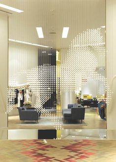 horse made of hanging crystals, Stella McCartney store in Las Vegas, designed by APA