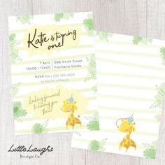Hey, I found this really awesome Etsy listing at https://www.etsy.com/uk/listing/595873687/little-giraffe-birthday-invitation-3