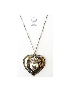 Valentines Silver Plated Pendant Hearts Necklace by Euphena Beaded Jewellery on Etsy - £20.00 #fashion #handmadejewellery #bespokejewellery #fashionjewellery