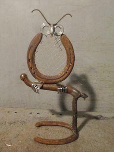 Perched Hoot Owl - Folk Art, Junk Art, Metal Art, Sculpture