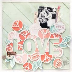 Its never too soon for a romantic layout if your husband's birthday is on Valentine Day 💟💕💖 😃 I created this layout using my January cut file and the beautiful Take Me Away collection from by . Wedding Scrapbook, Baby Scrapbook, Scrapbook Paper Crafts, Scrapbook Supplies, Scrapbook Albums, Scrapbook Organization, Scrapbook Sketches, Scrapbooking Layouts, Pop Up