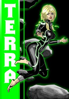 New 52 Terra Commission by Thuddleston on DeviantArt Dc Comics Girls, Dc Comics Superheroes, Tim Drake Red Robin, Black Bolt, New 52, New Avengers, Dc Characters, Young Justice, Power Girl