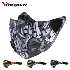 Buy Windproof Sports Cycling Winter Mask For Sports Women Men Mouth-Muffle Face Mask Running Skiing Masks Bicycle Face Mask Winter Cycling Hat, Winter Cycling, Fish Mask, Breathing Mask, Airsoft, Mens Toys, Cool Masks, Salmon Fishing, Sports Women