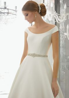 Order Mori Lee Bridal Mariska Wedding Dress Style Find Affordable and Exceptional Mori Lee Wedding Dresses at Ginnys Bridal Collection. Wedding Dress Body Type, Plain Wedding Dress, Mori Lee Wedding Dress, Luxury Wedding Dress, Classic Wedding Dress, Gorgeous Wedding Dress, Bridal Wedding Dresses, Wedding Dress Styles, Designer Wedding Dresses