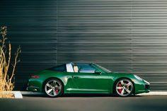 "*Insert ""green with envy"" joke here* Porsche 911 (991.2) Targa 4S in Paint-To-Sample Irish Green."