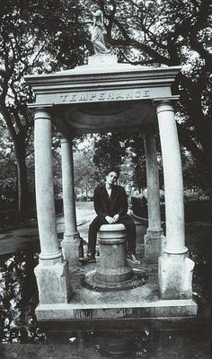 Jeff Buckley at Temperance Fountain at Tompkins Square Park in New York City. Jeff Buckley, Park In New York, Stand By You, Janis Joplin, White Horses, White Boys, Jim Morrison, American Singers, Beautiful Men