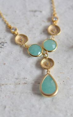 I WOULD LIKE IT!!!! Unique Jewel Pendant Statement Necklace in CZ