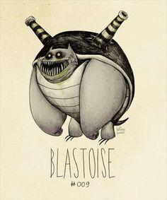 Pokemon Tim Burton - Blastoise