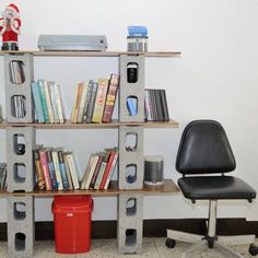 How to Build a Bookshelf Out of Cinder Blocks and Boards
