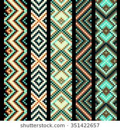 Find Beading Design Tribal Design Tribal Beads stock images in HD and millions of other royalty-free stock photos, illustrations and vectors in the Shutterstock collection. Embroidery Shop, Learn Embroidery, Silk Ribbon Embroidery, Embroidery Patterns, Embroidery With Beads, Bead Loom Patterns, Weaving Patterns, Bracelet Patterns, Stitch Patterns