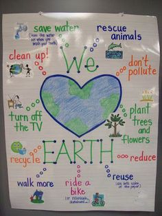Earth Day Essentials [ask kids what they do/can do to help save/protect the Earth and out their answers around the heart]