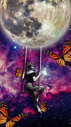 #collagedigital #butterflyinthemoon by naci posca