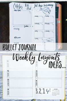 Bullet Journal Weekly Layout Ideas This Tape is So Sticky Mana vietne Simple weekly spread bullet journal bullet journal Printable Travelers Notebook Weekly Insert R.