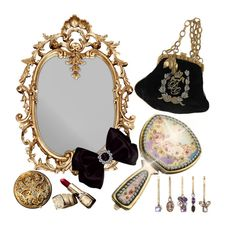 """Accessory World - Jeweled Vanity"" by jacque-reid ❤ liked on Polyvore featuring interior, interiors, interior design, home, home decor, interior decorating and Guerlain"
