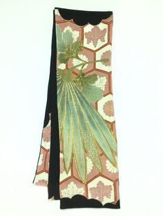 【Straight scarf Pink,Green,Gold Design  | #MegumiProject】 #Upcycled #RestoringBeauty #アップサイクル #めぐみプロジェクト #東北