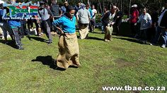 Sack Race Team Building Activity #Woolworths #TeamBuilding #CorporateFunDay